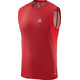 Salomon M's Trail Runner Sleeveless Tee barbados cherry